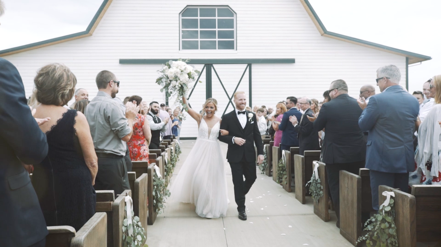 Image from wedding film by Fireside Media - Wedding videographer at the Butler Barn in Beaverton, Oregon